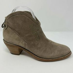 Fiorenti Baker Ankle Booties Suede Italy 7-7.5M